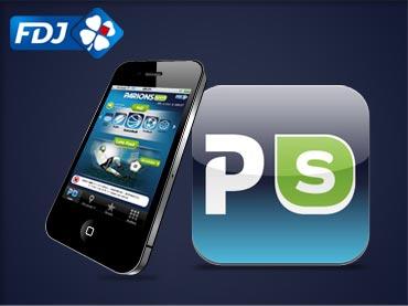 Design de l'apps iPhone ParionsSport de la FDJ