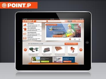 Vignette design tactile iPad Point.P