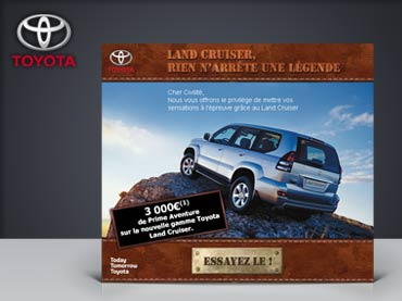 Vignette de la création email Toyota