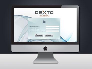 Design de l'écran de connexion au portail en ligne Dexto