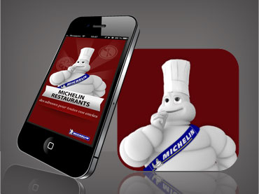 Design de l'interface graphique de l'application mobile ViaMichelin Restaurant