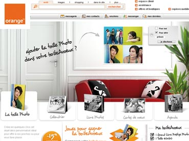 Mini site évènementiel, jeu concours Orange Photo pour WDM France