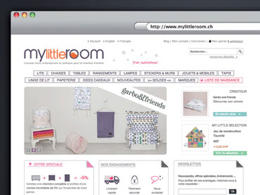 Découvrir le design du site web MyLittleRoom