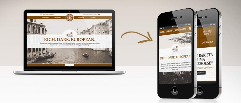Site pour écran PC adapté en site Web Mobile