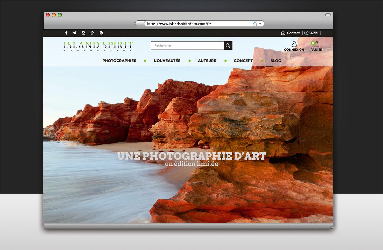 Image page d'accueil du site Island Spirit : Les falaises de cap Lévêque - Australie
