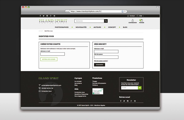 Page d'identification compte client