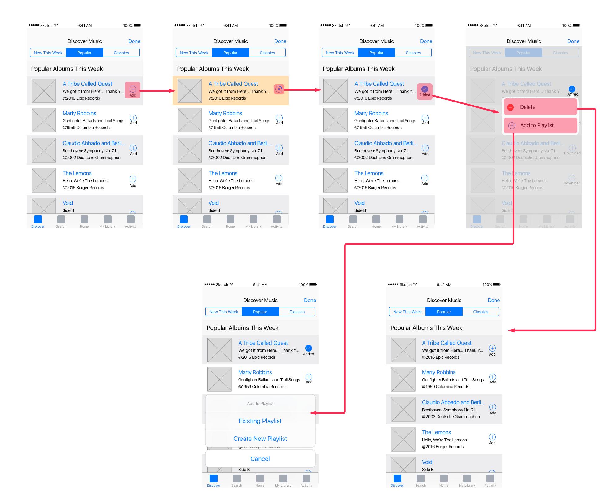 Exemple de Wireflow
